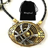 NEW Doctor Strange Amulet Eye Of Agamotto Necklace Jewelry - Costume Cosplay Prop (LARGE)