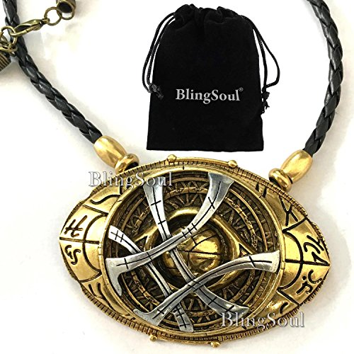 [NEW Doctor Strange Amulet Eye Of Agamotto Necklace Jewelry - Costume Cosplay Prop (LARGE)] (Lil Mermaid Costumes Toddler)