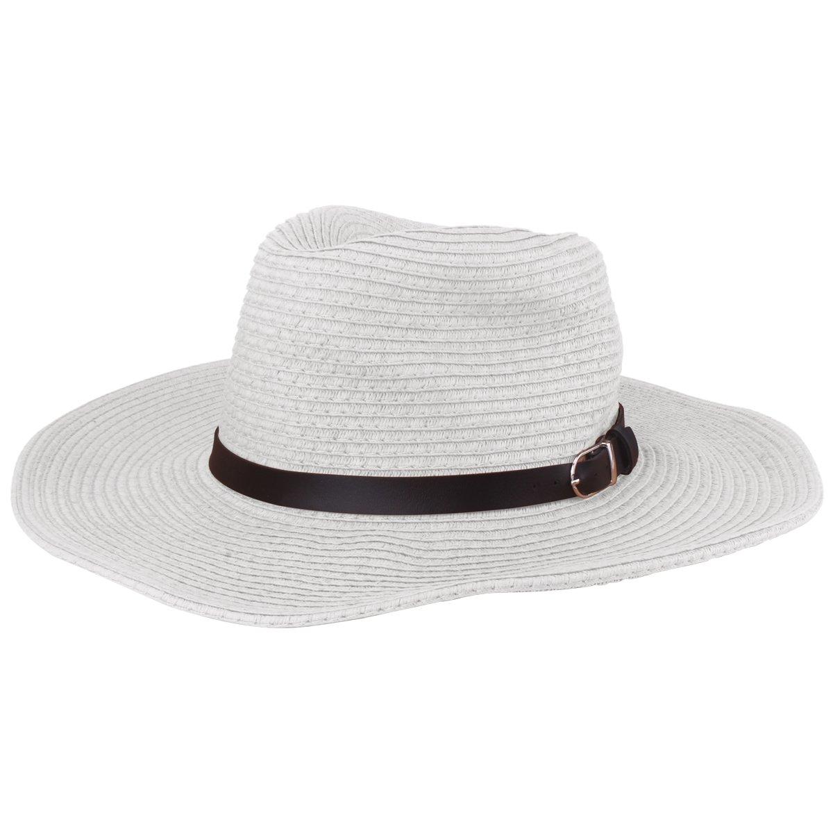 Cappello da donna da donna Cappello di paglia da donna Cappellino rotondo con visiera piatta Cappello di paglia estivo