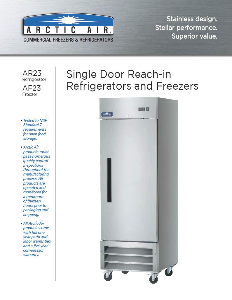 Arctic Air AF23 Commercial Freezer, 1-(Pack)