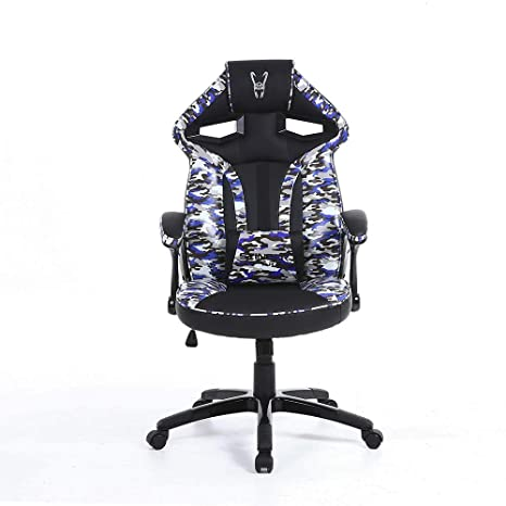 Woxter Stinger Station Army Blue - Silla gaming (Eje de acero,Levantamiento (Gas