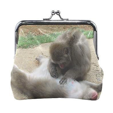 Amazon.com: Rh Studio Monedero monedero mono pareja Cuidado ...
