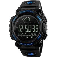 SKMEI Smartwatch Deportivo con Pantalla Digital, Resistente al Agua, con Funciones de Salud, Notificaciones, Podómetro, Contador de Calorías, Cronómetro, Medidor de Distancia, Modelo 1303