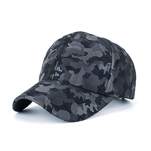 98fc35cba51dcc Amazon.com: CieKen 2018 New Everyday Unisex Faux Suede Camouflage Dad Hat  Plain Snapback Hip Hop Baseball Adjustable Ball Cap (Black): Clothing