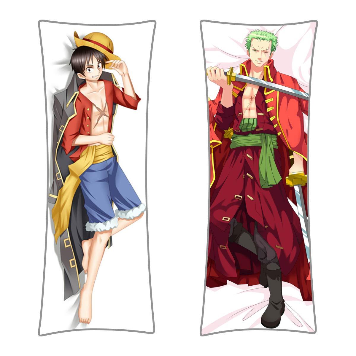 CoolChange One Piece Umarmungskissen Bezug, Dakimakura Kissenbezug 150x50cm, 150x50cm, 150x50cm, Motiv  Ruffy Zorro B07CP27GQ1 Zierkissenbezüge 711562