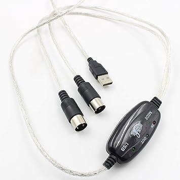guoxuEE Cable Midi Línea de edición de música Cable Midi a USB Teclado Cable de música