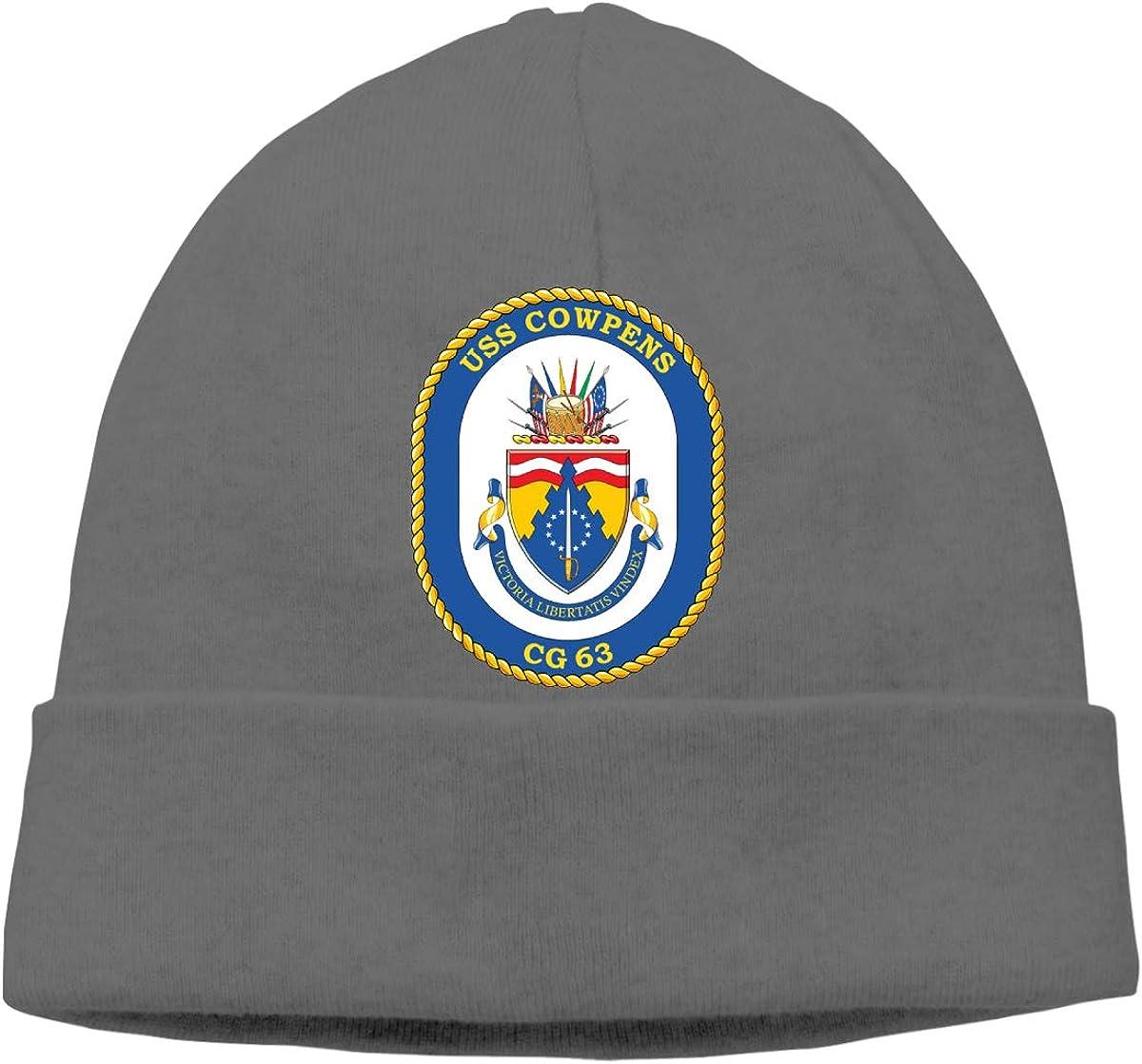 Us Navy USS Cowpens Cg-63 Unisex Skull Cap Knit Hat Set Head Cap
