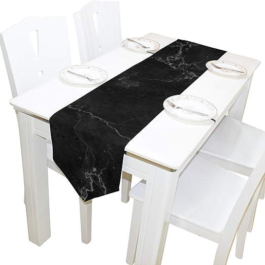 VIMMUCIR - Camino de Mesa de mármol Negro para decoración de Bodas ...