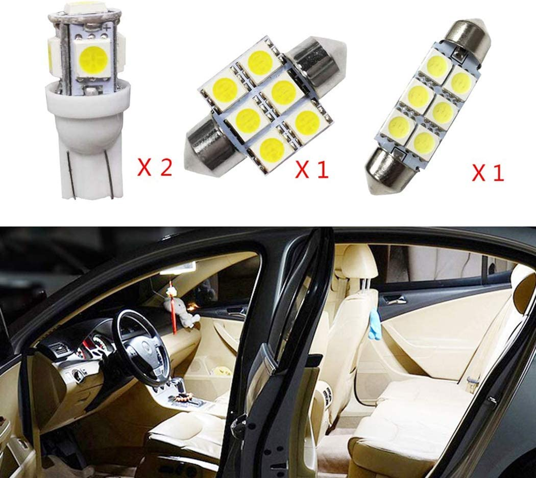 9 x White LED Bulbs for 2009-2013 Kia Forte Reverse Tag Interior Light