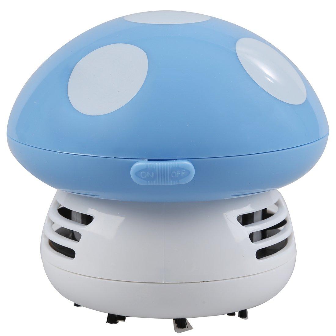 Wall of Dragon New Home Handheld Mushroom Shaped Mini Vacuum Cleaner Car Laptop keyboard Desktop Dust cleaner-blue