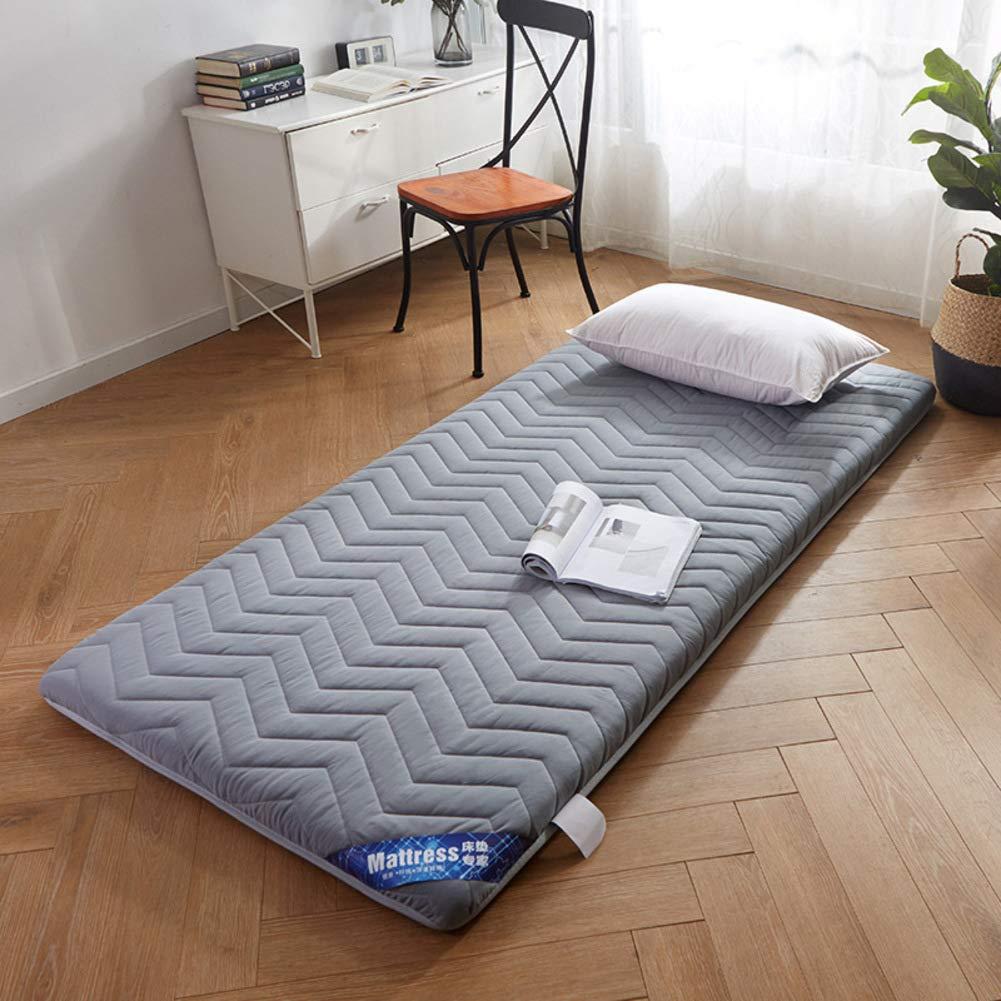 厚め ベッドパッド, 折りたたみ 滑り止め マットレス パッド 布団畳 学生 寮 マットレスをロールアップします。-a B07RZ6PMRW