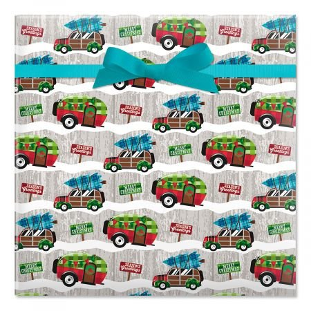 Christmas Camping Gift Wrap for these Fun Camping Wrapping Paper And Creative Gift Wrap Ideas