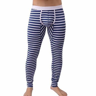 5e7474271ff97 ITISME Homme Longue Pantalons Thermique Sexy Rayé Respirer Hommes, Mode Slim  sous-Pantalon Patchwork