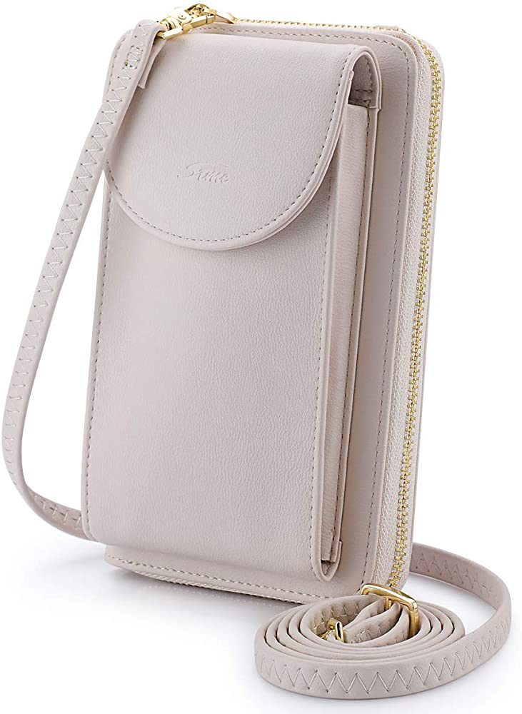 S Zone Pu Leather Rfid Blocking Crossbody Phone Bag For Women Small Cellphone Wallet Purse Pouch Beige Rfid Blocking Handbags Amazon Com