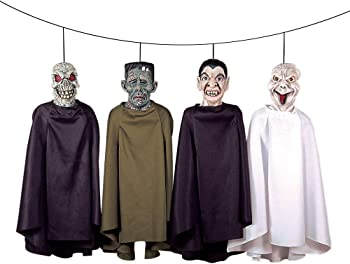 Set of Four Theefun Hanging Ghost Halloween Decorations