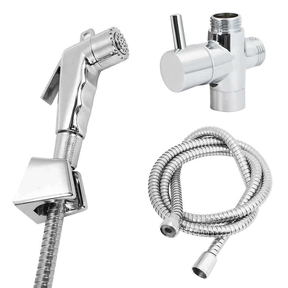 Fenleo Hand Held Shower Head Douche Toilet Bidet Spray Wash Jet Shattaf Diverter Attachment