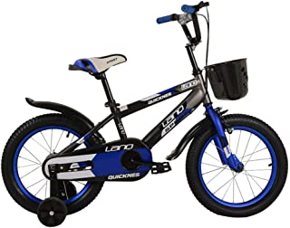 Asdflina Entraîneur de vélo Enfants Garçons Gilrs Bike 12 Pouces avec Stablizers Âge 3-5 Ans Entraînement de vélo à Domicile (Couleur : Bleu)