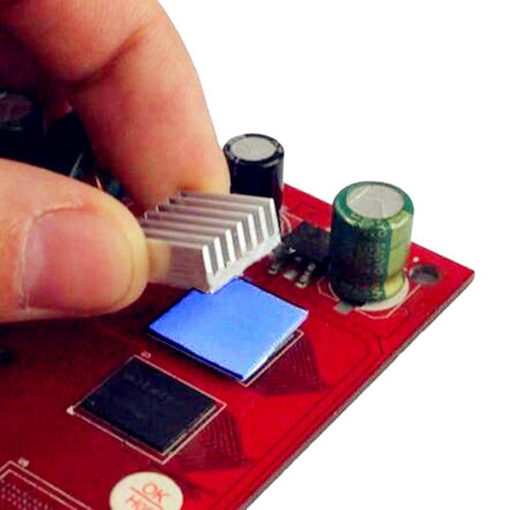 SIXQJZML 30Pcs 15x15x1mm Soft Silicone Thermal Conductive Pads Heatsink IC Chipset Northbridge for CPU GPU Heatsink by SIXQJZML (Image #6)