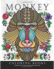 Monkey Coloring Book: An Adults Coloring Book Stress Relieving Patterns