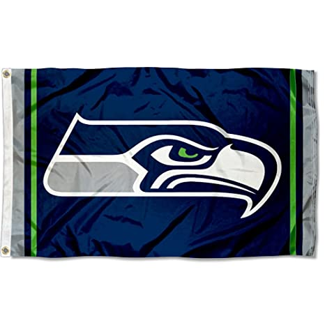 a00860e6667 Amazon.com   WinCraft Seattle Seahawks Large NFL 3x5 Flag   Sports Fan  Outdoor Flags   Sports   Outdoors