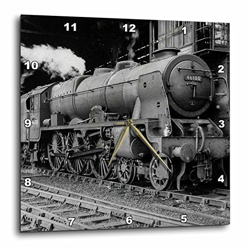 (3dRose Magic Lantern Vintage LMS Royal Scot Steam Locomotive Train Station Wall Clock 15 x 15)