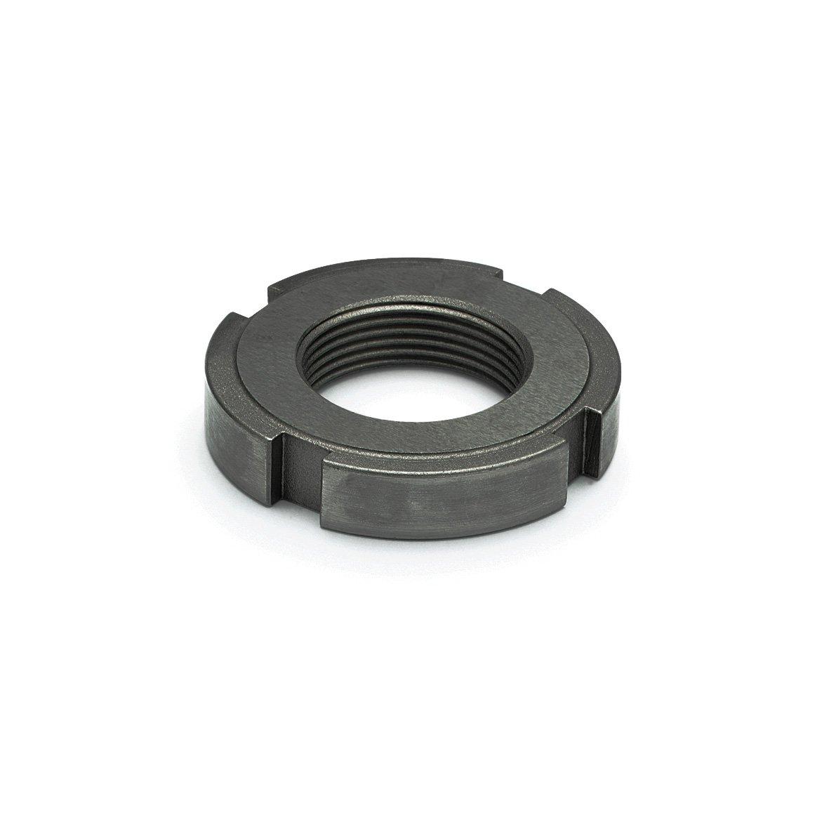 J.W. Winco 380XSNB DIN1804 Slotted Spanner Nut, M38 x 1.5 mm, Steel by JW Winco