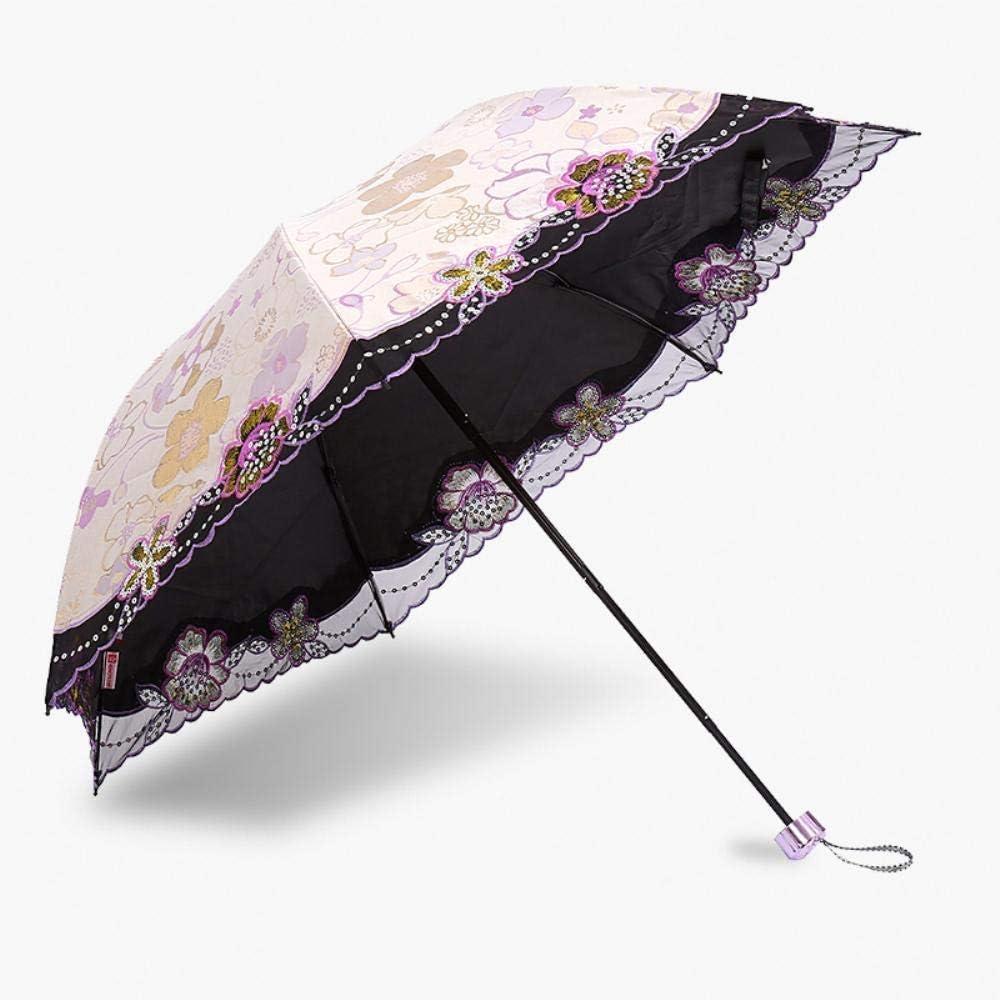 nobrand Ombrello Pieghevole Ombrellone Protezione UV del Parasole del Merletto, Pink-B Style ombrelloni da Esterno (Color : Purple B Style) Pink B Style
