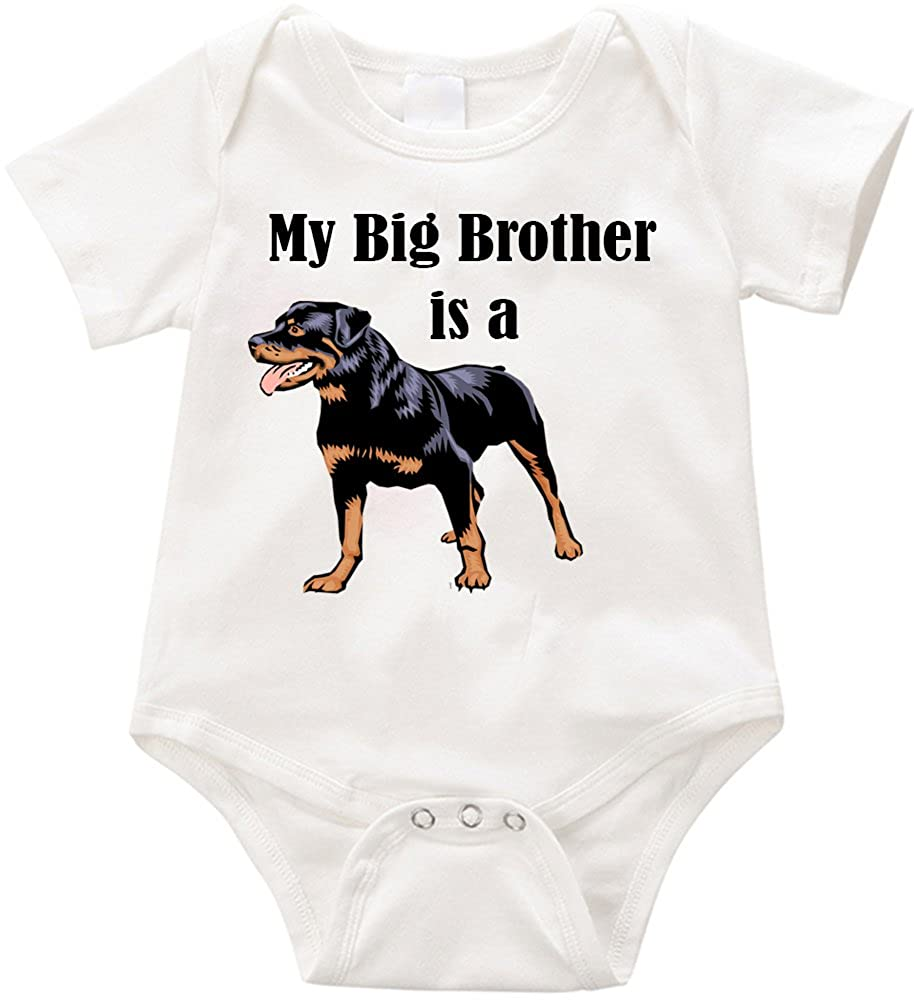 Anicelook My Big Brother is a Rottweiler-#1 Infant Romper Creeper