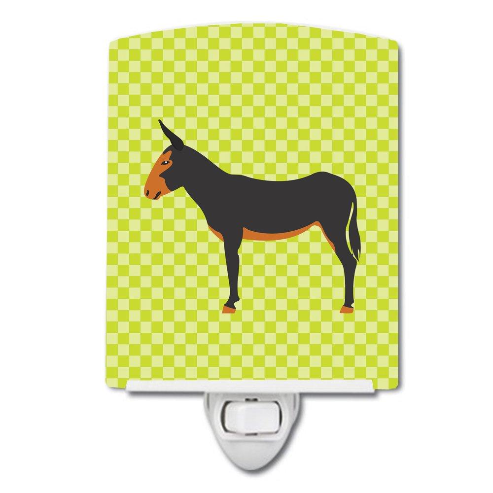 Carolines Treasures Catalan Donkey Green Ceramic Night Light 6x4 Multicolor