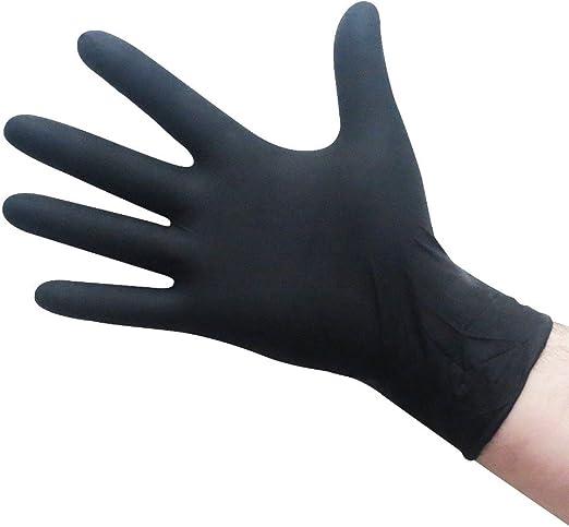 100 Black Nitrile 5 Mil Powder-Free Industrial Gloves XL Non-Vinyl Latex-Free