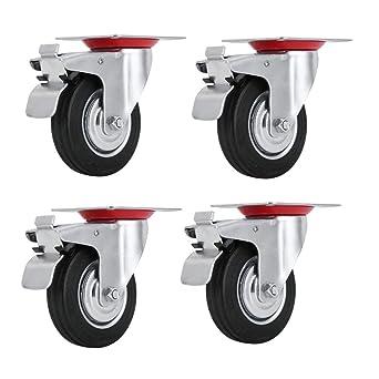 satisfied 4 pieza ø75 mm 3 Ruedas Transporte, dirigibles playa cesta ruedas ruedas de giro
