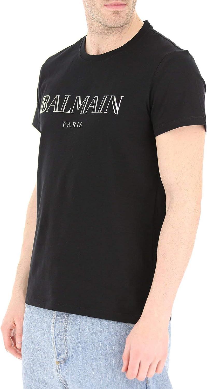 Balmain Maniche Corte RH11601 Nero