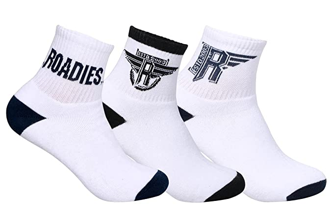 5135c85db03 Image Unavailable. Image not available for. Colour  Supersox Roadies  Workout Basic Collection Ankle Length Terry Cotton Socks for Men Pack of 3
