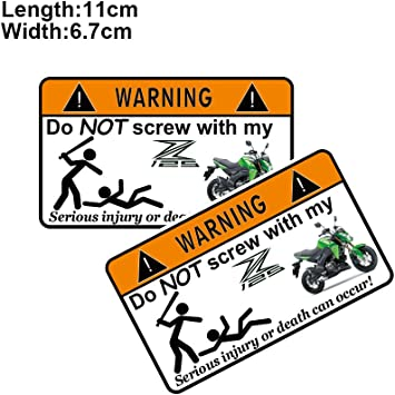 PRO-KODASKIN Motorcycle 2 Pieces Warning Sticker Decal for GROM MSX125