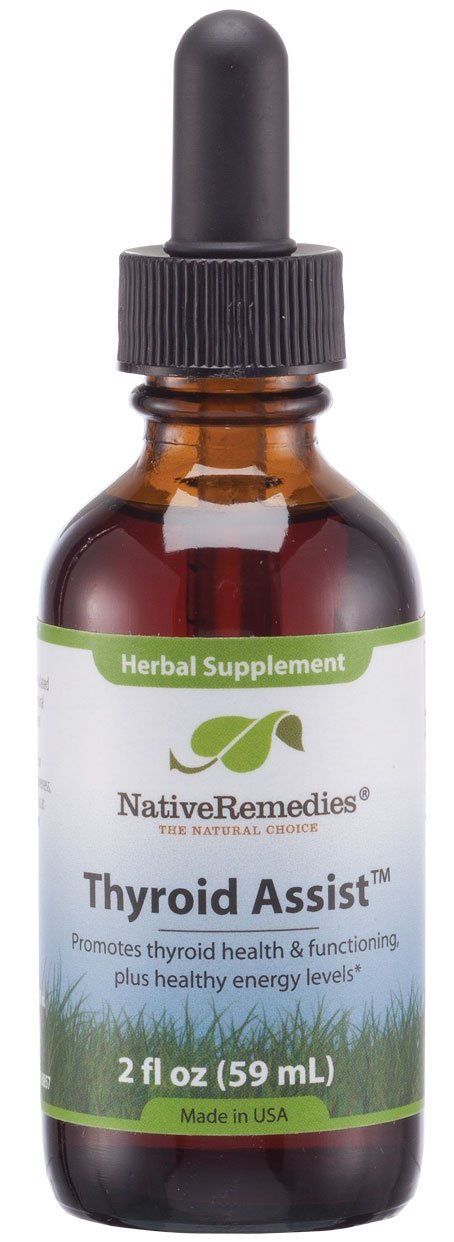 Native Remedies Thyroid Assist - All Natural Herbal Supplement Promotes Thyroid Gland Health and Functioning - 59 mL by Native Remedies