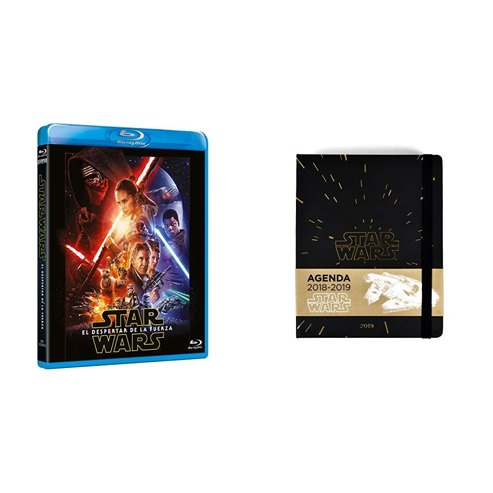 The Force Awakens Blu-Ray + Star Wars- Agenda 16 Meses 2018 ...