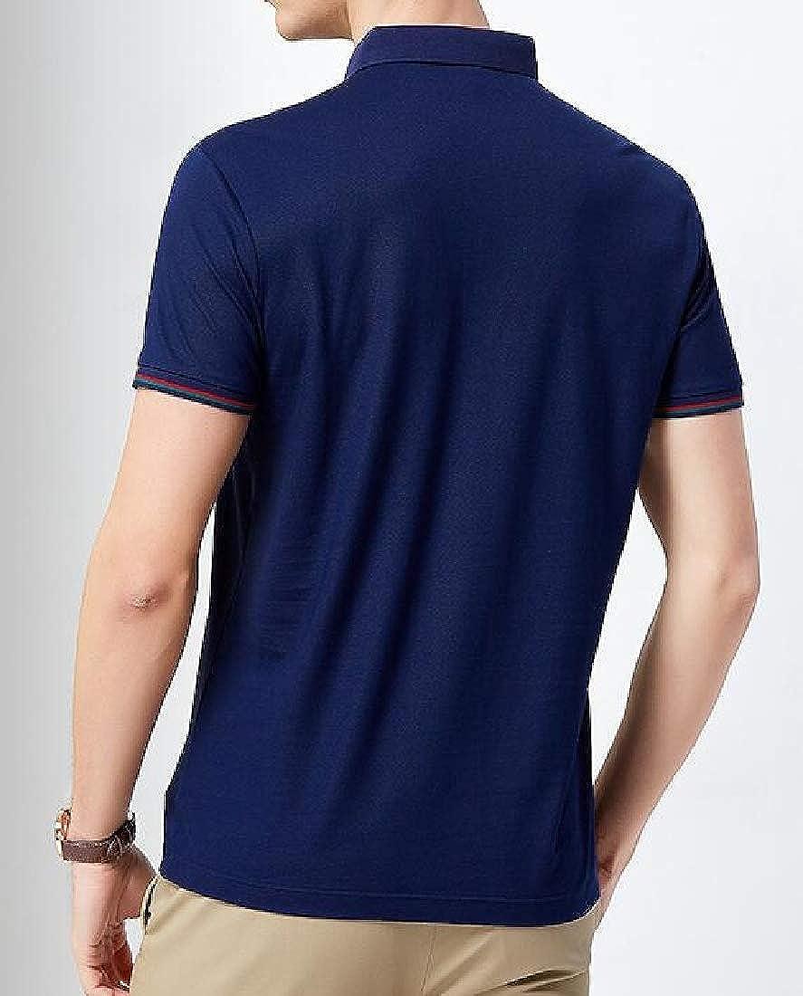 Lutratocro Men Short Sleeve Summer Polos Shirt Top Business Casual T-Shirts