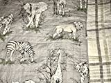 5-pc SAFARI JUNGLE FULL/QUEEN Quilt Set - (set includes 2 shams, 2 pillows & Quilt) lion elephant zebra tiger giraffe JUNGLE ANIMALS