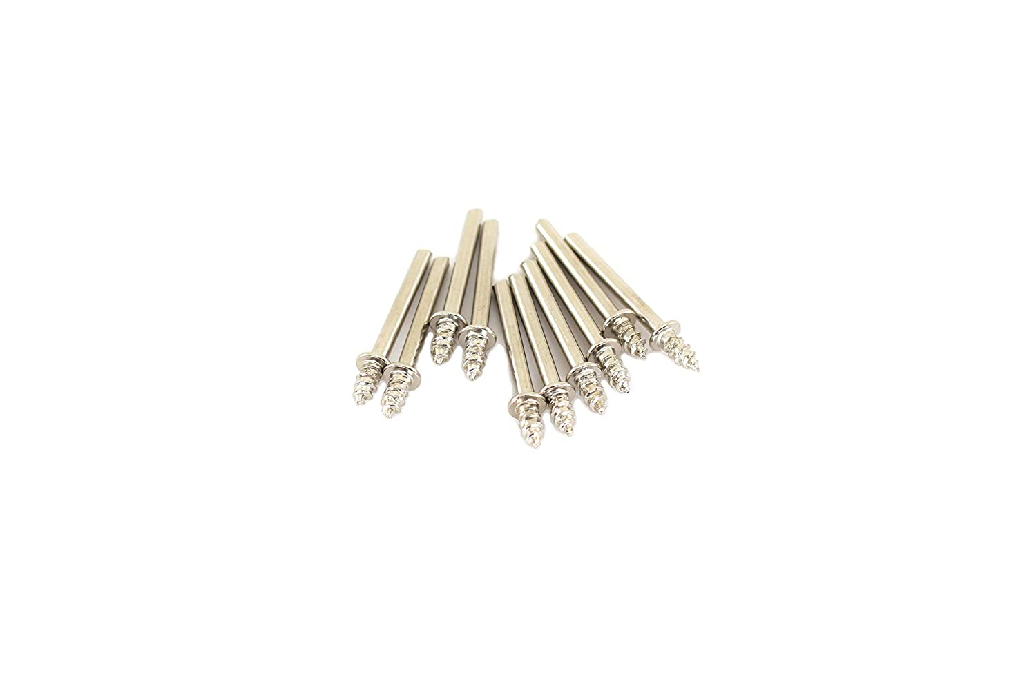 TEMO 10 pc #401 screw Mandrel for Felt Polishing Wheel or Cone Tip with 1/8 inch (3mm) Shank fit Dremel and Compatible Rotary Tools