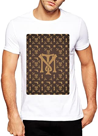 BrickLn Louis Vuitton Pattern Inspired Tony Montana Logo - XX-Large Homme T-Shirt