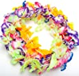 12 Hawaiian Luau Jumbo Silk Flower Leis Tropical Party