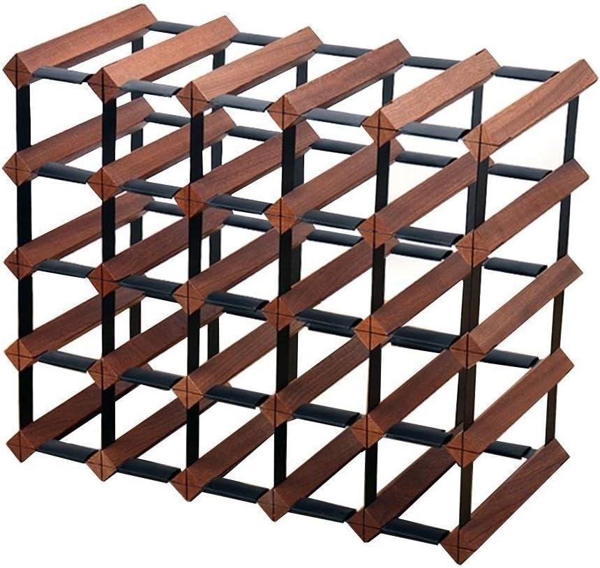 Estantería de vino 25 embotella el estante de madera del vino, soporte con soporte de almacenamiento titular de la botella Organizador encimera-robusta for la cocina o barra de Inicio de servicio pesa: