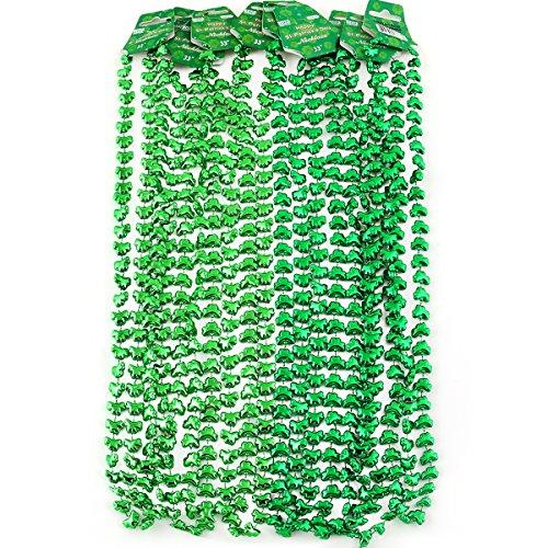 [ULTNICE St Patrick's Day Beads Shamrock Necklace , Pack of 12] (St Patricks Day Shamrocks)