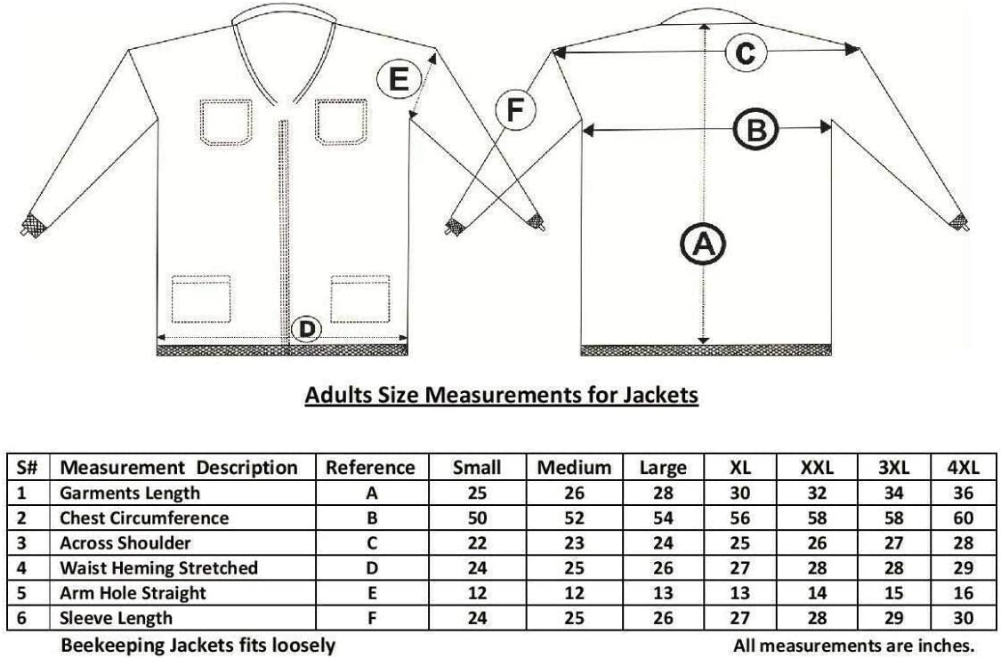 Professional Choice 3 Layer Safety Unisex White Fabric Mesh Beekeeping Jacket Beekeeping Fencing Veil Protective Clothing Beekeeping Clothing Beekeeping Protective Clothing Ventilated Bee-S
