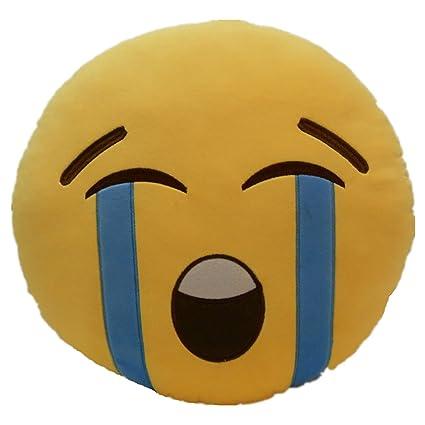 Li Hi Emoji Risa Emoticon Almohada Acolchado Decoración Cojín