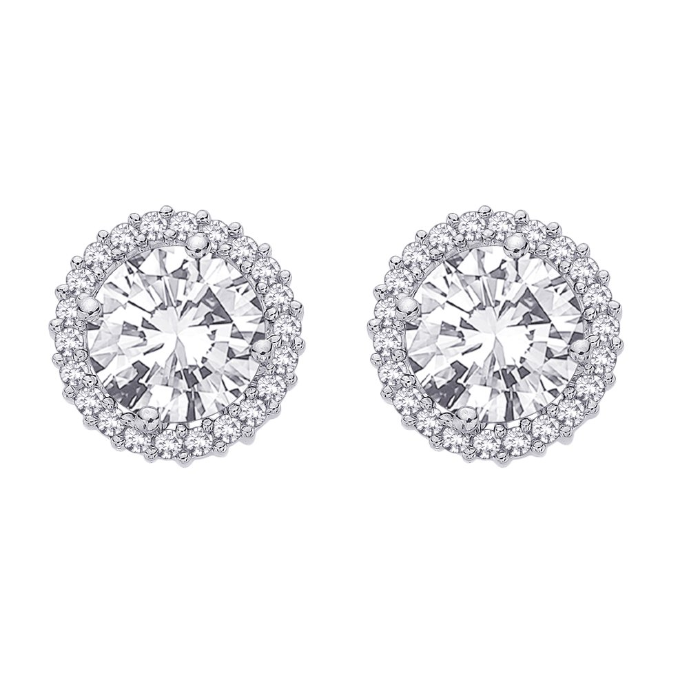 Diamond Earring Jackets in 14K White Gold (1/2 cttw) (Color GH, Clarity I4)