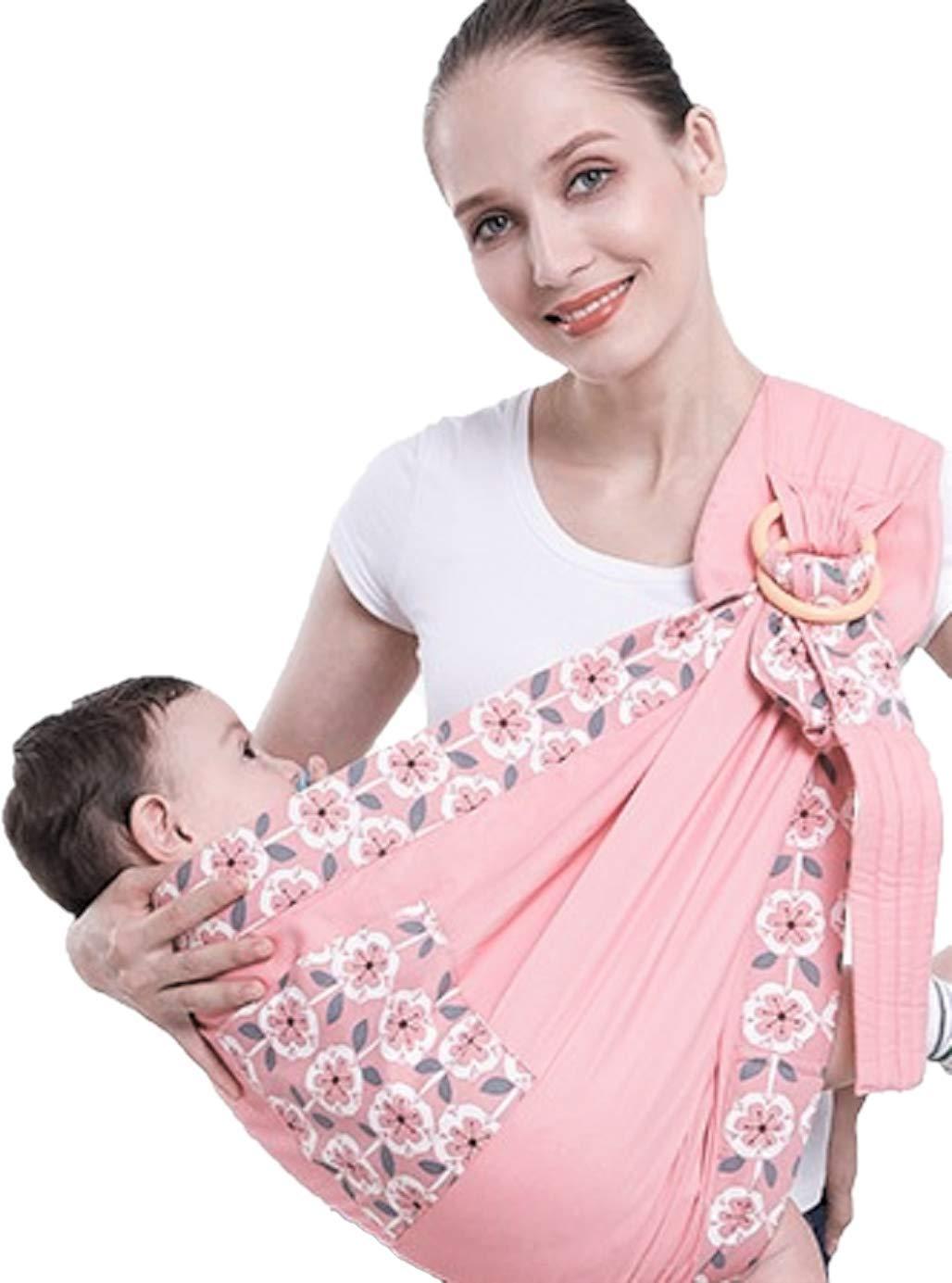 Uamita Babytrage Band aus Atmungsaktiver Baumwolle Hergestellt ohne Verwendung von Synthetischen Fasern Rosa Fantasie Qualit/ätsmaterial Die Praktischste Ergonomische Babytrage f/ür Kinder bis 20 kg