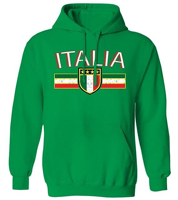 Bandera de Italia envejecido rayas - cartel italiano Italia sudadera con capucha para hombre: Amazon.es: Libros