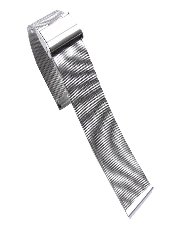 DreamanファッションMilaneseステンレススチール22 mm腕時計バンドストラップ M マルチカラー ブラック B075R168CF