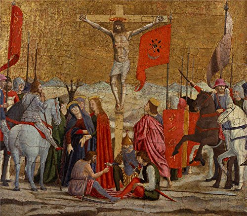 Oil Painting 'Piero Della Francesca - The Crucifixion, 15th Century', 16 x 18 inch / 41 x 46 cm , on High Definition HD canvas prints is for Gifts And Basement, Dining Room And Foyer Decoration, huge